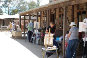 Plein air painting at the Pioneer Settlement - Swan Hill